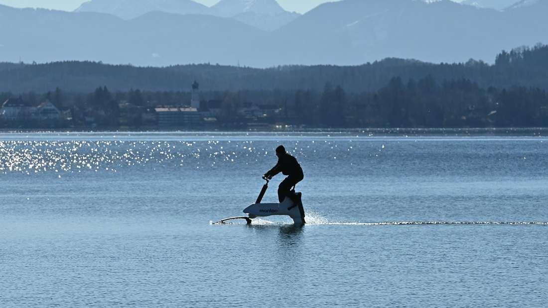 Foilbiken auf dem Starnberger See
